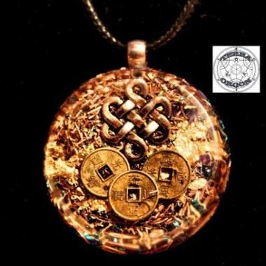 Nudo budista y monedas I Ching