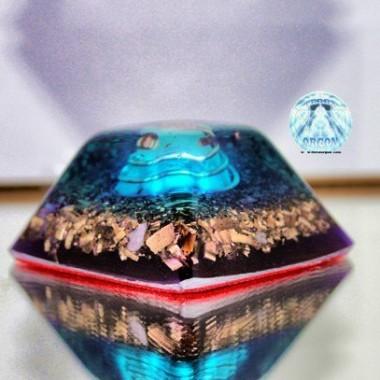 Piramide truncada espiral azul